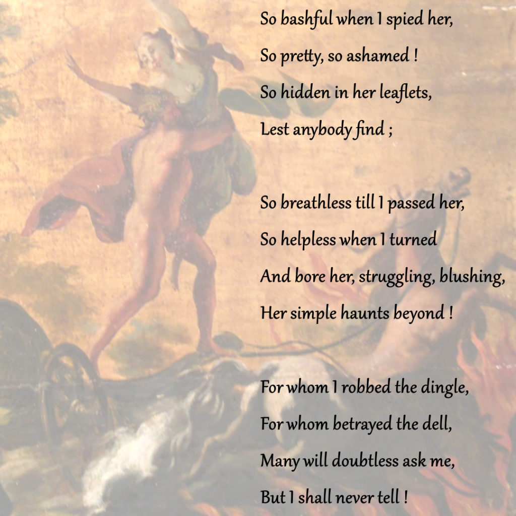 Hades Abduction of Persephone, 18th century, Unkown