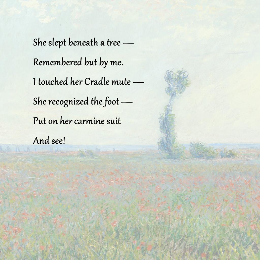 The Poppy Field, 1873, Claude Monet